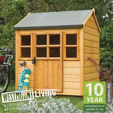 NEW 4 x 4 CHILDRENS WOODEN PLAYHOUSE KIDS  OUTDOOR WENDY HOUSE