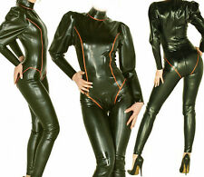 Latex Rubber Gummi Ganzanzug Catsuit Black and Red Bodysuit Suit Size XS-XXL