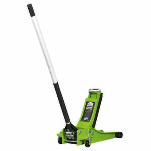 Sealey Tools 2001LEHV 2 Tonne Low Entry Rocket Lift Trolley Jack – Green