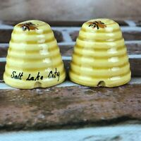 Vintage Salt and Pepper Shakers Salt Lake City Beehive souvenir