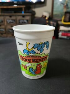 Vintage 1985 Wendy's Teddy Ruxpin Plastic Kids Meal Cup