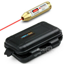 308 243 Brass Red Laser Cartridge Bore Sight Sighter + VERY100 Waterproof Box