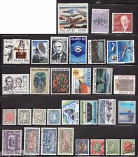 SUPERFLEAS ICELAND Collection of better value stamps cv$50+