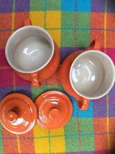 Le Crueset Mini Cocotte/Mini Casserole X 2 In Volcanic Orange