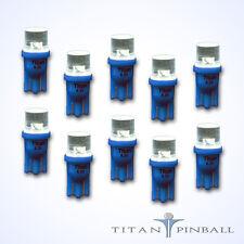 (10 Pack) - 6.3 Volt LED Bulb Flat Top 555 Base (T10) Pinball - BLUE