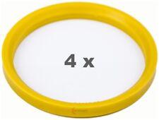 4 Pcs Centering Ring 76.0 Auf 65.1 Light Yellow/Lightyellow