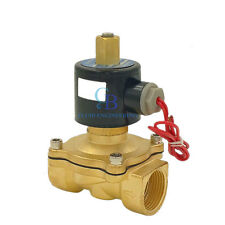 """G3/4"""" N/O 220V AC Brass Electric Solenoid Valve Water Gas Air Normally Open Type"""