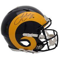 JARED GOFF Autographed LA Rams Speed Throwback Authentic Helmet FANATICS