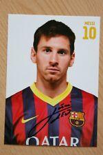 FC Barcelona 13-14 Lionel Messi Portrait original Autogramm official AK SetCard