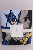 NWT Pottery Barn Kids Batman FQ duvet cover full queen f/q blue