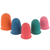 5Pcs Counting Cone Rubber Thimble Protector Sewing Quilter Finger Tip CrafNWUS