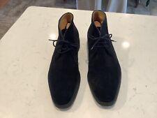 John Lobb Black Suede Ankle Boots