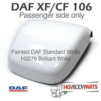 DAF XF106 Wing Wide Mirror Back Cover Painted Brilliant White H3279 Left Hand
