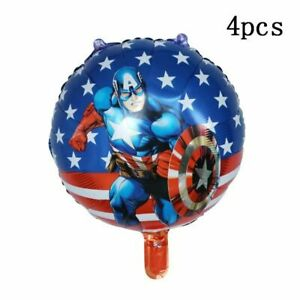 Spiderman Balloons Happy Birthday Number Party Decor Supplies Foil Balloon 13Pcs