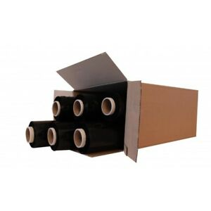 6 STRONG ROLL BLACK PALLET STRETCH SHRINK WRAP CAST PACKING PARCEL CLING FILM