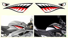 2 X DENT DE REQUIN 46cmX15cm TEETH SHARK MOTO GP AUTOCOLLANT STICKER (SA114A)