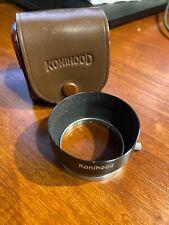 Original Konica KONIHOOD 37mm?? Slip-on Vintage Lens Hood with Leather Case