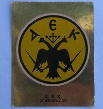 Panini Fussballsticker 1980   A.E.K Athen  Gold Wappen Fussballbild