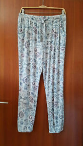 HUNKEMÖLLER Gr.L Schlafanzug Pyjamahose Grau Viskose Sleepwear Pants Nachtwäsche