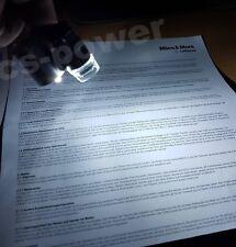 60x Juwelier Uhrmacher Lupe mit LED+UV Licht Labor Schmuck Vergrösserungs-Glas
