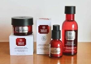 The BodyShop Roots Of Strength Essence Lotion Serum Cream firming Shaping RRP£77