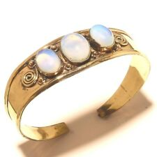 Amazing Tibetan Silver Brass Fire Opal Cuff Bracelet Bangel Handmade Jewelry
