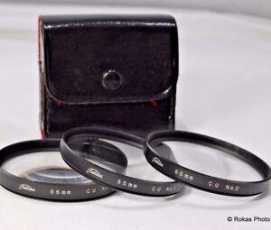 Toshiba 55mm +1 2 4 Filter macro close-up lens set