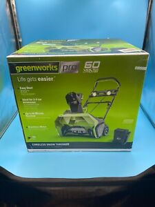 "GreenWorks Pro 60V Cordless 20"" Brushless Snow Thrower w/ 6.0 Ah Battery SN60L61"