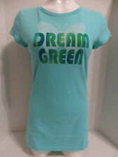 Grow Free shirt Large blue graphic Dream Green butterfly organic cotton USA made