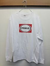 NWOT Mens Hanes Primus Camping White Long Sleeve Tee T-Shirt 100% Cotton Sz XL