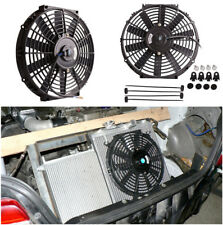 "12""inch Universal Slim Fan Push Pull Electric Radiator Cooling 12V 80W Mount Kit"