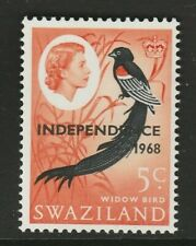 SWAZILAND 1968 SG149 INDEPENDENCE - 5c. BLACK, RED AND ORANGE-RED  -  MNH