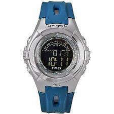 Timex Mens 1440 Sports Collection Black Digital Dial Chronograph Blue Watch NEW