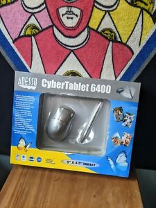 """Adesso CyberTablet 6400 6"""" X 4.5"""" Graphics Tablet w/ 2 Button Pen Wireless Mouse"""