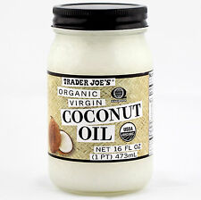 Trader Joe's Coconut Oil Extra Virgin Organic Unrefined 16 OZ Always BoughtFresh
