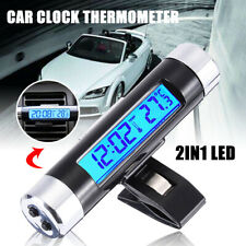 2in1 LED Digital Car Clock Thermometer Temperature Mini LCD Backlight