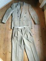 Designer Anzug von Cacharel Paris  beige Karo Ton in Ton 48 50  Schurwolle Mix