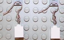 LEGO Earrings White Bricks 1x1  NEW!!!