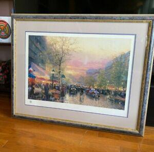 RARE Paris City of Lights by Thomas Kinkade Limited Edition Lithograph w/ C.O.A.