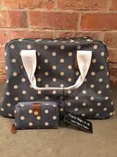 Classy-Bags Large Bag & Matching Purse In Dotty Gray