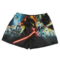 Star Wars Satin Boxer Shorts Mens Size L Force Awakens Storm Troopers
