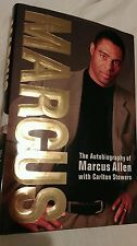 """Marcus"" Autobiography of Marcus Allen Signed Autographed  Hardcover Raiders"