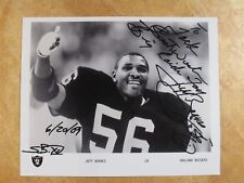 JEFF BARNES (2X-SB/CHAMP) SIGNED AUTOGRAPHED 8X10 B&W PHOTO 1977-87 RAIDERS