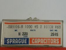 Electronics - Sprague Capacitors .000006.8mf, Type N220