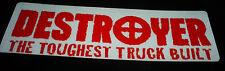 Vintage retro 90's Destroyer Destructo skateboard truck stickers & decals