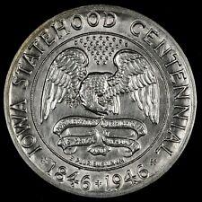 PARTING OUT SET. HIGH GRADE CHOICE BU 1946 IOWA COMMEMORATIVE HALF DOLLAR!