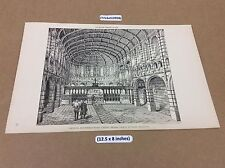 Church, Roundhay road Leeds - lithograph  1889 - The builder - architect print