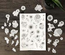 Planner Stickers Scrapbooking Diary Organiser Flower Bullet Journal