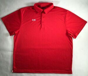 Under Armour Polo Team Rival Golf Shirt HeatGear M L XL 2XL 3XL 1246240 DEFECT