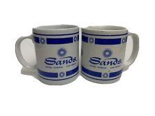 Sands Hotel Casino Las Vegas Nv- 2 Coffee Mugs White & Blue Color